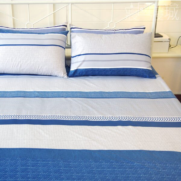雙人床包(含枕套) ICELAND 冰島的海平面【簡約線條、觸感升級、SGS檢驗通過】 # 寢國寢城 2