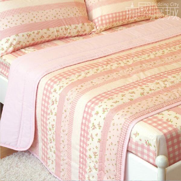 加大雙人床包涼被四件組 田園小花 #草莓 #藍莓【SGS檢驗、台灣製造】#寢國寢城 3