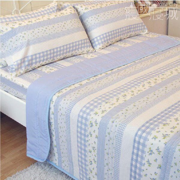 雙人床包涼被四件組 田園小花-#草莓 #藍莓【SGS檢驗、台灣製造】# 寢國寢城 7