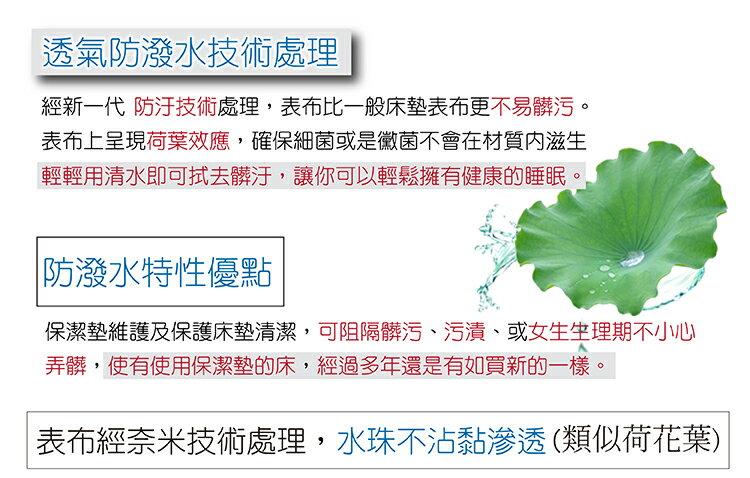 保潔墊 (單人) 藍色-平鋪式 『奈米防污防水』 3層抗污型、可機洗、台灣製 #寢國寢城 4