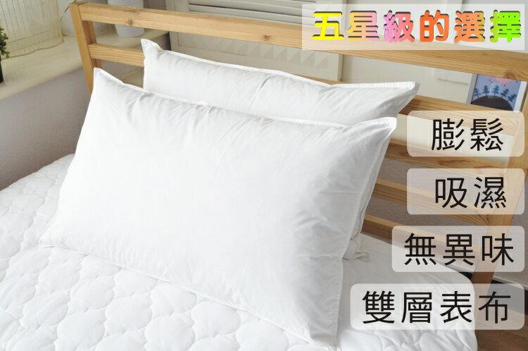 枕頭/日系天然水鳥羽絨枕(2入)【膨鬆、吸濕、無異味】台灣製 2