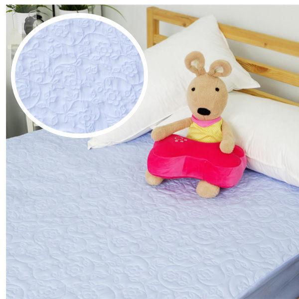 保潔墊單人床包式 獨家3層無毒貼合、抗菌防霉、可機洗 3.5x6.2尺立體雕花保潔墊 單品 3色任選 2