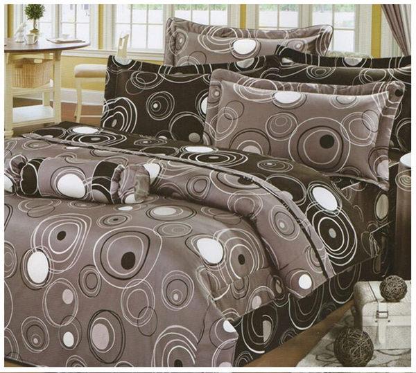 雙人床罩5件組精品【時尚設計】40支精梳純棉 100%天然棉 # 寢國寢城 2