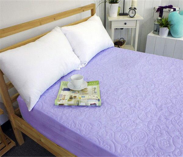 保潔墊雙人床包式 獨家3層無毒貼合、抗菌防霉、可機洗 5x6.2尺立體雕花保潔墊 單品4色任選 4