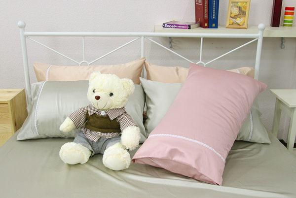 雙人床包枕套3件組【滑順不悶熱、台灣製】綢緞絲棉床包組#5色 # 寢國寢城 3