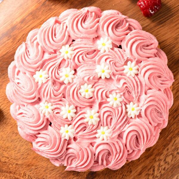 ~喬伊絲~6吋 花漾覆盆莓~來自 的國民飲料~可爾必思製成的乳酪餡, 法國水果果泥以及純