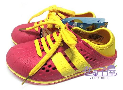 【巷子屋】KOYO 童款兩穿式夏日輕便洞洞鞋 拖鞋 鞋帶可拆 [45902] 桃 超值價$100