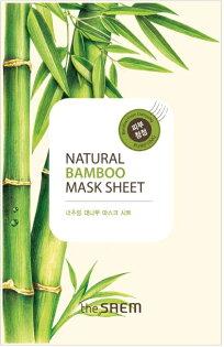 韓國the SAEM Natural 美顏鮮竹面膜 21ml Natural Bamboo Mask Sheet (New)【辰湘國際】