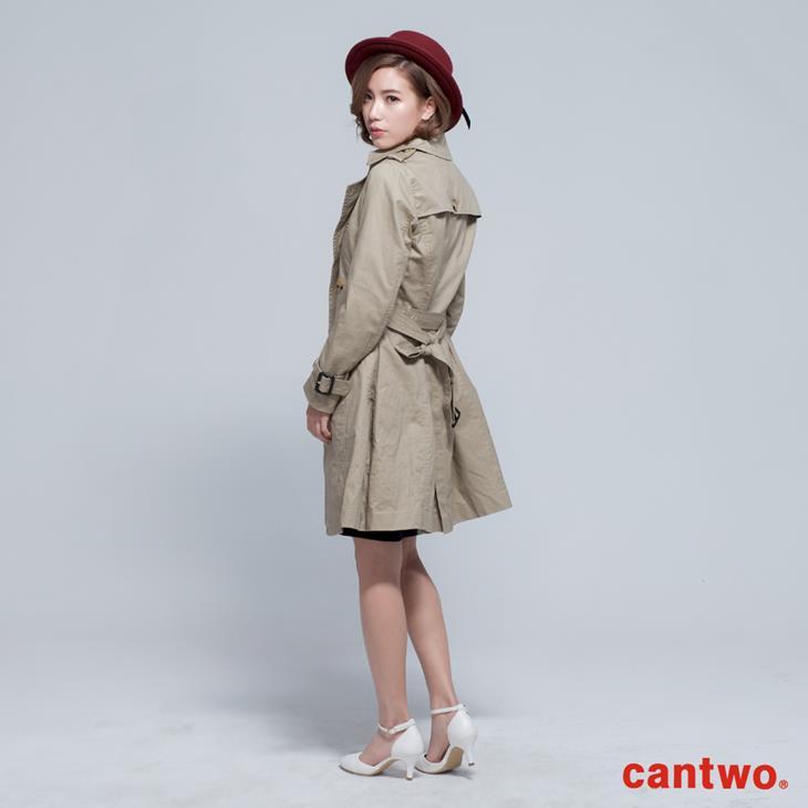 cantwo雙排釦兩穿式風衣外套(共二色) 2