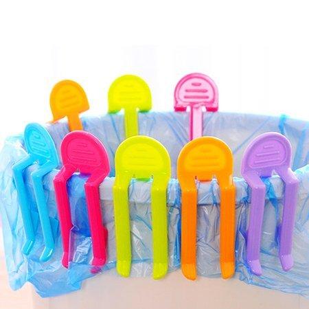 居家創意 糖果色垃圾桶固定夾 防滑夾子【N200547】