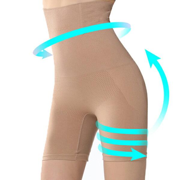 長褲管版 小腹剋星 560丹 超高腰平腹機能長版束褲(3件組)-【夢蒂兒】 2