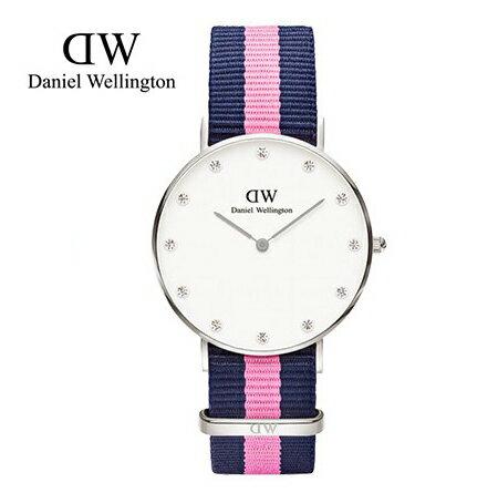 瑞典正品代購 Daniel Wellington 0962DW 銀 玫瑰金 尼龍 帆布錶帶 女錶手錶腕錶 36MM 0