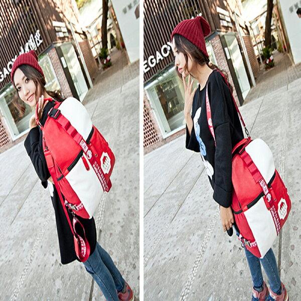 韓版時尚出國旅遊背包 後背包 側肩包包 學生書包--夏日時光