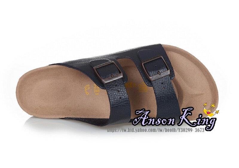 [Anson King]Outlet正品代購  birkenstock Arizona系列 男女款 懶人涼拖鞋 深藍裂紋 2