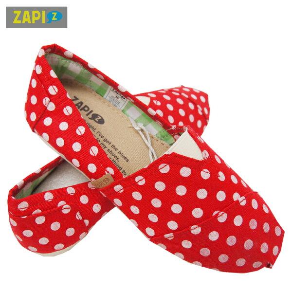 ZAPI休閒懶人鞋-紅點點