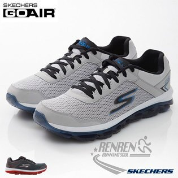 SKECHERS 男運動鞋 GO AIR (淺灰*藍) 半透明氣墊 瑜珈科技鞋墊
