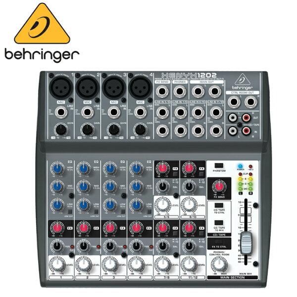 【非凡樂器】德國大廠耳朵牌百靈達 Behringer XENYX 1202 /12軌混音器/公司貨保固