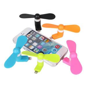 APPLE 迷你小風扇 可愛輕巧小風扇 清涼 散熱 (二葉)(IOS)(LIGHTNING) IPHONE 5 / IPHONE6