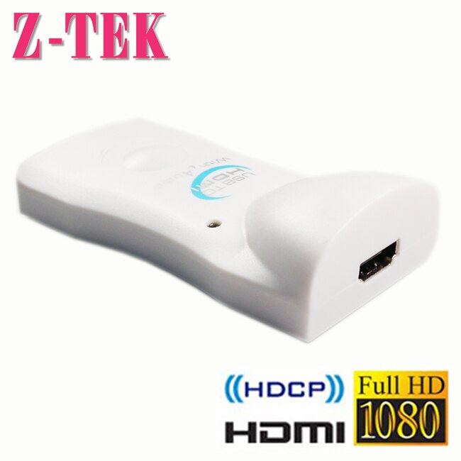 【Z-TEK】USB2.0 TO HDMI 轉接器-白色(NE674) - 限時優惠好康折扣
