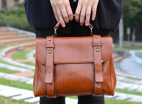 【T-HOMME x LINNATE】復古英倫手工真皮劍橋醫生包質感森林系簡約休閒斜側背包手提包
