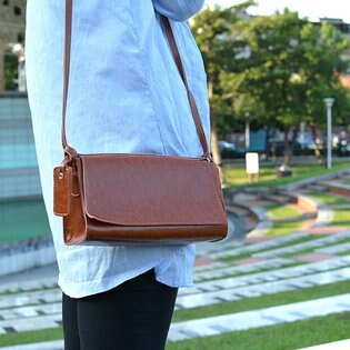 【T-HOMME x LINNATE】復古學院簡約手工真皮優雅小清新藝文休閒斜肩背包側背包小包