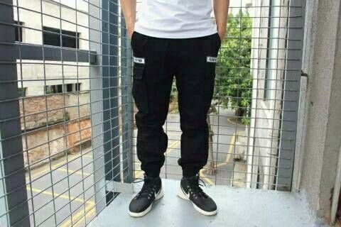 ~My style~雙口袋高磅束口褲~軍綠 黑,M L XL^(約30 32 34^) ~