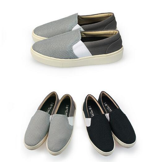 【My style】富發牌R49~透氣拼接一字繃帶休閒鞋(黑.灰)23-25號-任兩雙免運