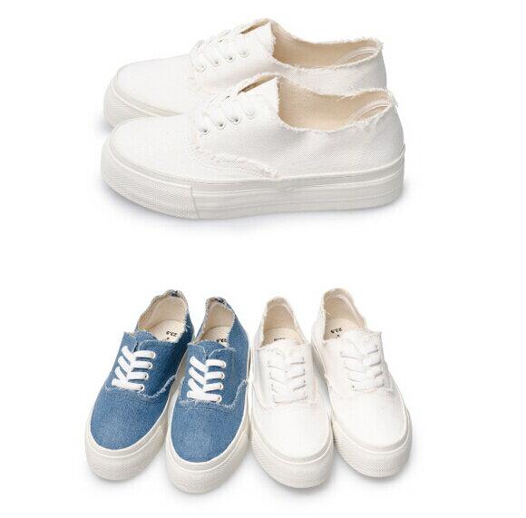 【My style】富發牌-T66 牛仔頹廢綁帶休閒鞋,SIZE:23-25號。任兩雙免運