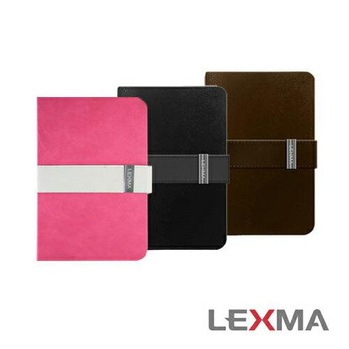 LEXMA 都會經典時尚系列iPad mini皮套-黑/咖啡  (mip-01)