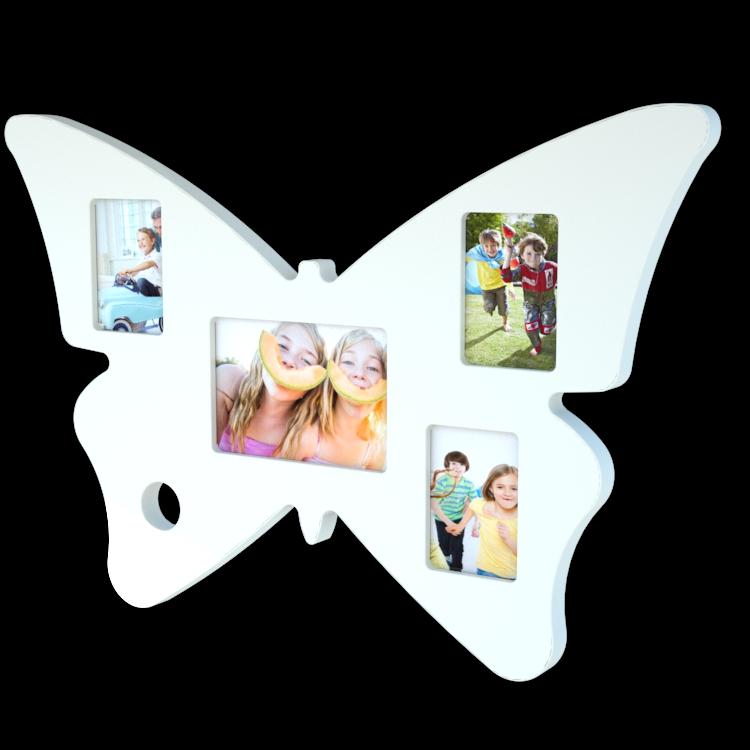 Marco multifoto Mariposa blanco 0