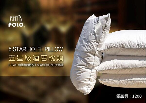 【Antis 安地斯】 100%天鵝絨枕 100%純棉 專利防塵蹣 五星級飯店專用/護頸健康枕/保健枕/枕頭/羽絨枕/羽毛枕