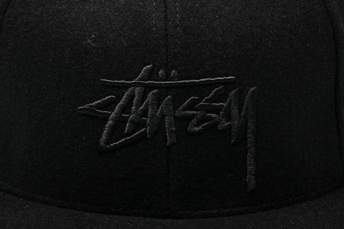 BEETLE PLUS STUSSY SU15 STOCK SNAPBACK 經典 刺繡 全黑 羊毛 CAP 後扣帽 LOGO 素面 棒球帽 ST-25 1