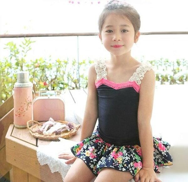 【貝貝樂SHOW】清新涼爽鏤空花吊帶褲裙碎花套裝~正韓Pinkideal品牌~下殺促銷款