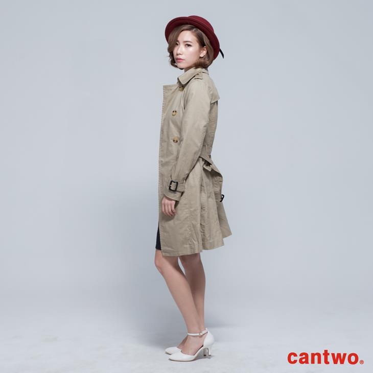 cantwo雙排釦兩穿式風衣外套(共二色) 1