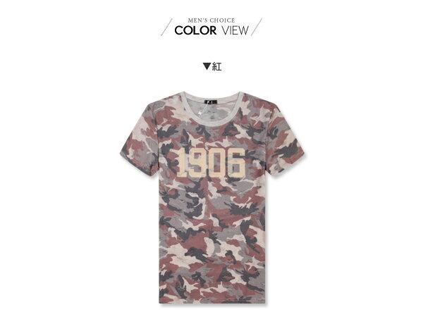 ☆BOY-2☆【NQFE2288】短袖T恤美式休閒潮流抓破1906迷彩印花短T 1