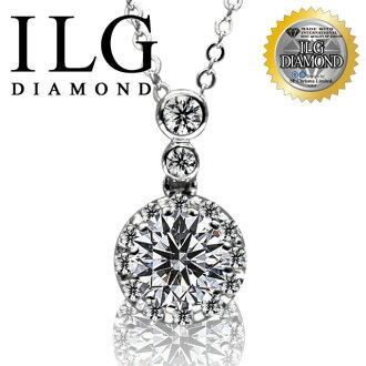 【ILG鑽】頂級八心八箭擬真鑽石項鍊-名媛最愛款 NC002 主鑽約2克拉 貴婦名媛最愛配戴款式 0