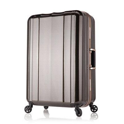 日本 LEGEND WALKER 6702-58-24吋 鋁框超輕量行李箱 碳纖黑