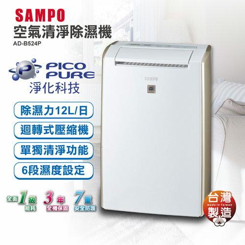 SAMPO聲寶 PICO PURE空氣清淨除濕機 AD-B524P