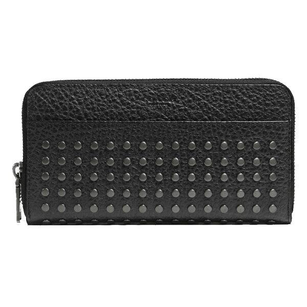 COACH F75445 新款男士鉚釘長款錢包手拿包