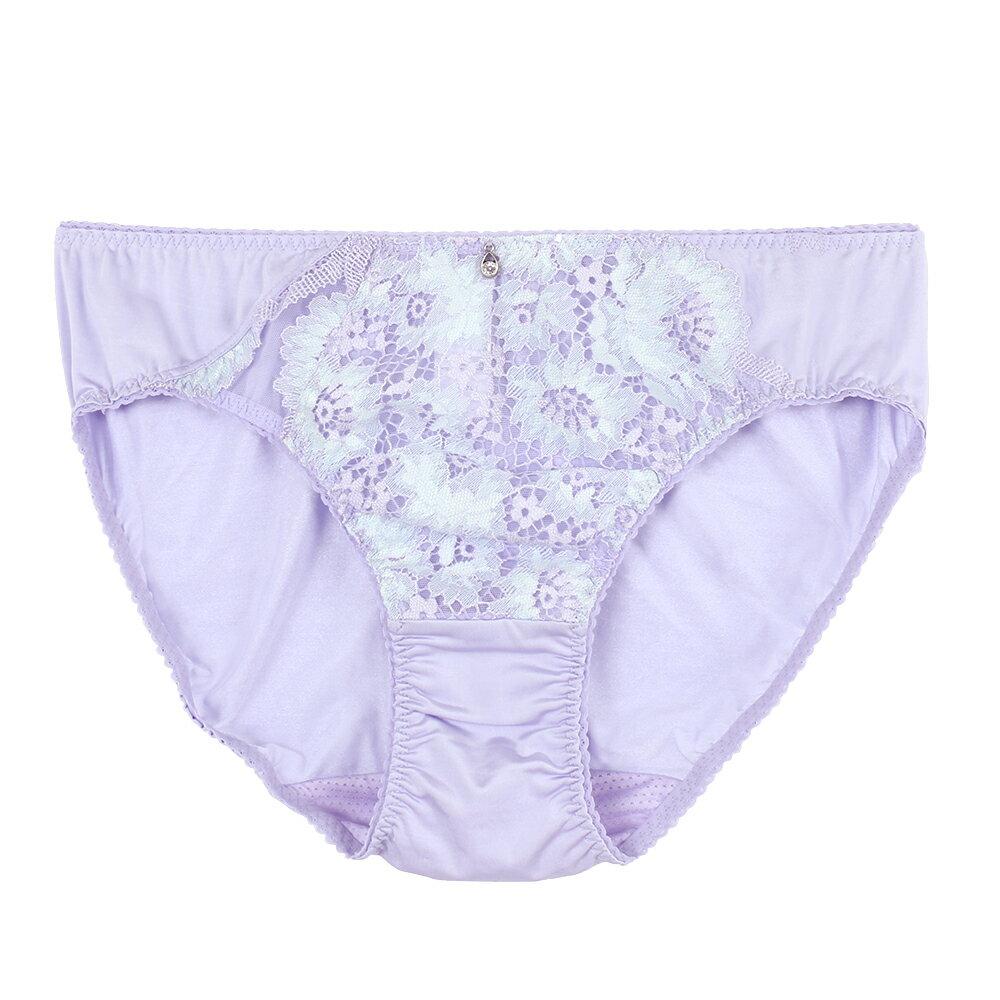 【Favori】冰絲 花語冰沁三角褲 (水紫) 0