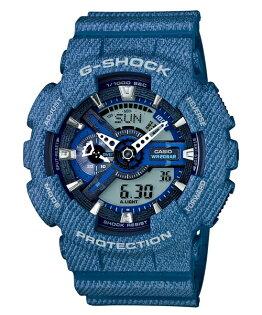 CASIO G-SHOCK GA-110DC-2A牛仔單寧流行時尚腕錶/51mm