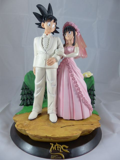 【秋葉園 AKIBA】七龍珠 孫悟空和琪琪的結婚典禮 公仔 GK模型 塗装完成品 限定品 1