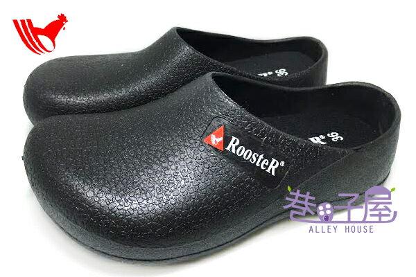 【巷子屋】ROOSTER公雞 男/女款防水荷蘭鞋 拖鞋 [135] 黑 MIT台灣製造 超值價$198