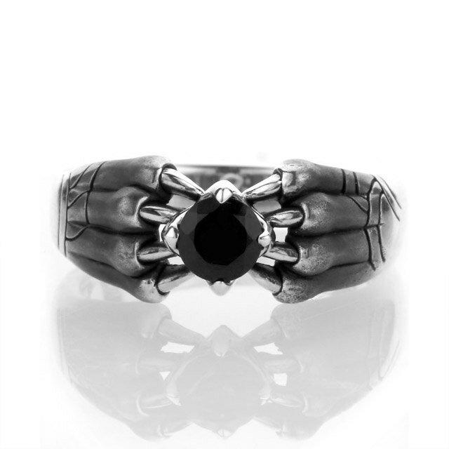 【海外訂購】【Bloody Mary】Aslan 阿斯蘭獅爪純銀戒指 尖晶石(BMR1386-Bsp) 1