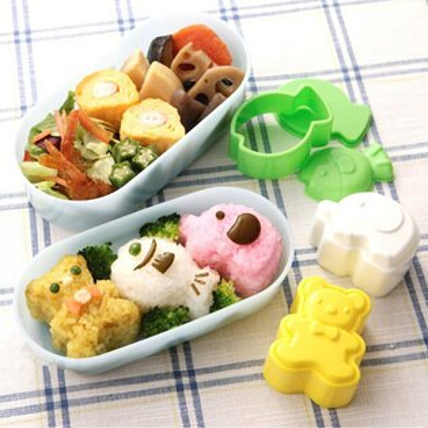 小魚/小熊/大象飯糰造型模具 DIY創意便當模具3件套組 野餐
