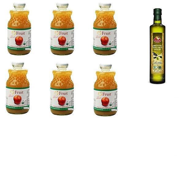 有機園 有機蘋果汁6+歐特有機橄欖油+瀉鹽