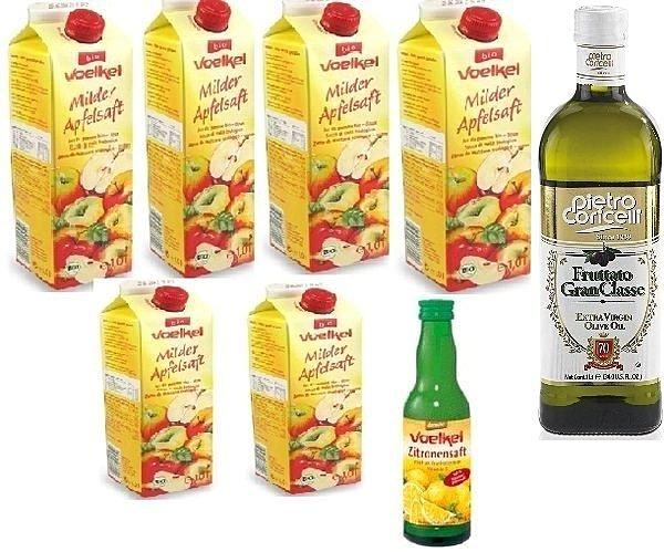 德國 Voelkel維可有機蘋果汁+有機檸檬汁+纖元素+瀉鹽+老皮耶 冷壓橄欖油/ 一批3400