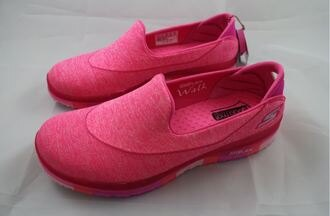 [陽光樂活] SKECHERS (女) 健走系列 GO FLEX 走路鞋 休閒鞋 健走鞋 - 14010HPK 粉