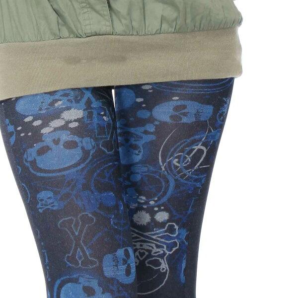 【美麗工場】藍調骷髏頭雙面褲襪↘下殺五折↘