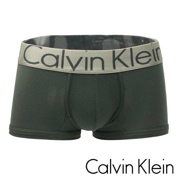 《Calvin Klein》銀邊寬褲頭經典 四角 男 內褲(灰色) CK 152C-U2716G2 CK內褲